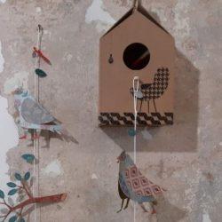 casetta per uccellini di carta laboratorio 16 - R nel bosco