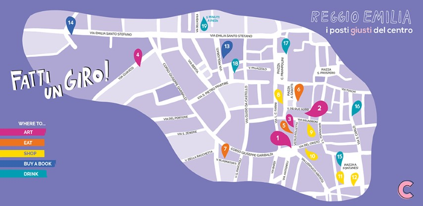 mappa reggio emilia