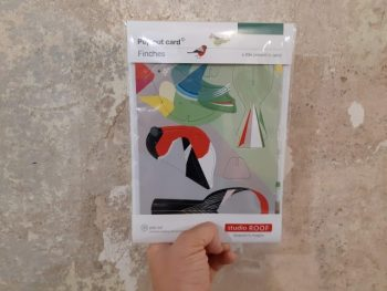 uccellini di carta pop out card - R nel bosco