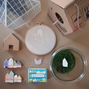 4 case di Amsterdam in ceramica - R nel bosco - tra le case