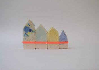 casette in ceramica - 4 case di Amsterdam - R nel bosco