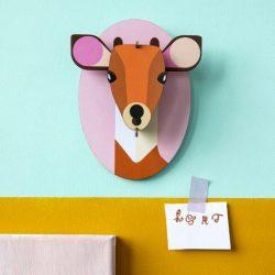 animali della giungla - decorazioni murali - trofei di carta - cerbiatto - R nel bosco